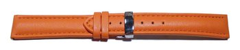 Watch strap - Genuine leather - Smooth - orange