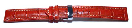Deployment II - Genuine leather - Croco print - red