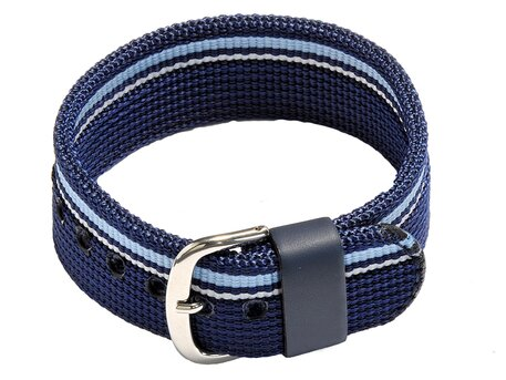 Velcro-Watch strap Casio f. BG-1006KF-2, Textile, blue