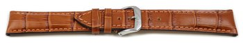 Light brown watch strap - RIOS - Crocodile Grain - art...