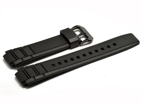 Genuine Casio Replacement Black Resin Watch strap for Edifice EFR-515PB