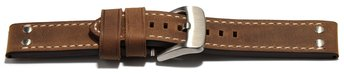 Watch strap - extra strong - genuine leather - 2 Pins -...