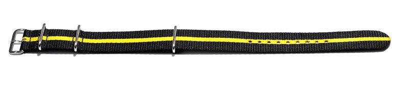 Watch-strap-Nato-Nylon-Waterproof-black-