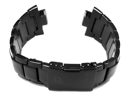 Genuine Casio Replacement Black Stainless Steel Watch Strap Bracelet for EQW-A1000DC-1A