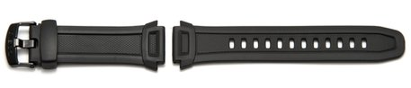 Casio-Watch strap for W-756, W-756-1AVES, black Resin
