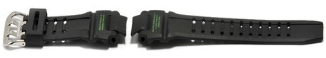 Casio Black Resin Watch Strap with Green Letterings for G-Shock GW-4000-1A3ER, GW-4000
