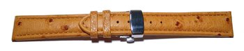 Butterfly - Watch strap - Genuine Ostrich - padded - nature