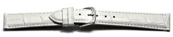 Watch Strap - White Coloured Croc Grained Genuine Leather