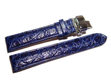 Butterfly - Genuine leather - padded - African - blue