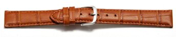 Watch Strap - Light Brown Coloured Croc Grained Genuine...