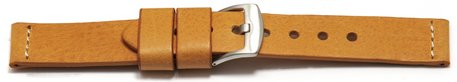 Watch strap - Genuine saddle leather - Ranger - light brown XL