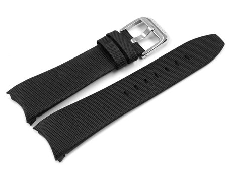 Festina Watch Band for F16592, Black Textile with Inside made of Leather, Ligh-coloured