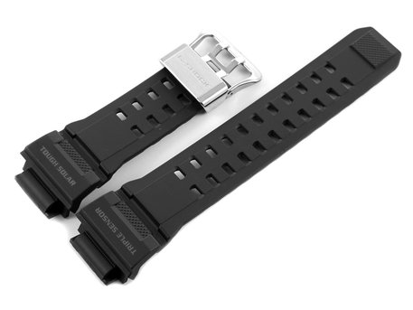 Watch strap Casio f. G-Shock GW-9400, GW-9400-1, rubber, black