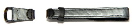 Velcro-Watch strap Casio for LW-200V, LW-200, Cloth/Leather, anthracite/black