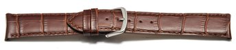 Watch band - Genuine Calfskin - curved ends - dark brown