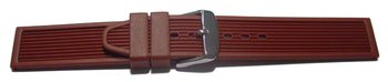 Watch strap - Silicone - Stripes - Waterproof - bordeaux