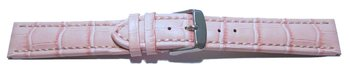 Watch strap - Genuine leather - Croco print - pink