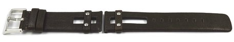 Watch band by Festina for F16308 - Replacement strap - Leather - Dark brown