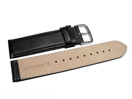 Watch strap - Genuine Italy leather - Soft padded - black