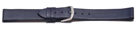 Watch strap - genuine leather - for fixed pins - blue