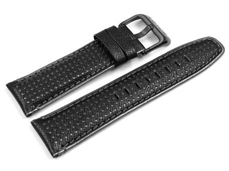 Genuine Lotus 15790 Black/Grey Leather Watch Strap