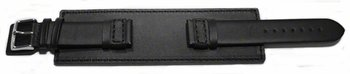 Watch band - Genuine leather - with full Pad - black