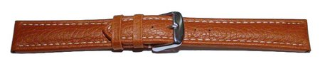 Watch strap - Genuine grained leather - light brown