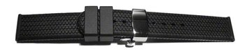 Butterfly - Watch strap - Silicone - Tire profile - black