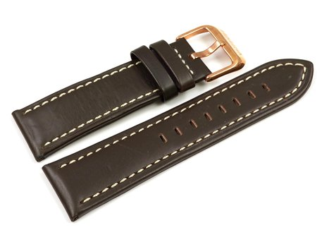 Genuine Festina Brown Leather Replacement Watch Strap for F16454