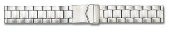 Solid Stainless Steel watch band Deployment clasp brushed...