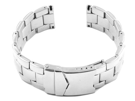 Solid Stainless Steel watch band - Deployment - polished