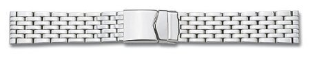 Metal watch band - Stainless steel - polished - 18,20 mm