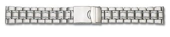 Stainless Steel - Solid look - watch band - 3 links -...