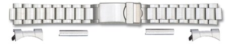 Steel watch band with two attachments - 18,20,22mm