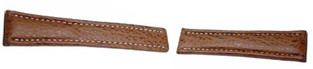 Genuine shark leather - brown -  20/18mm, 22/18mm, 22/20mm, 24/20mm