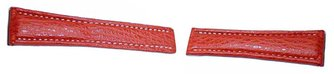 Genuine shark leather - red -  20/18mm, 22/18mm, 22/20mm