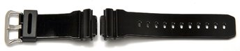 Genuine Casio Replacement Shiny Black Resin Watch Strap...