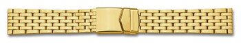 Metal watch band - Stainless steel - polished - Gold...