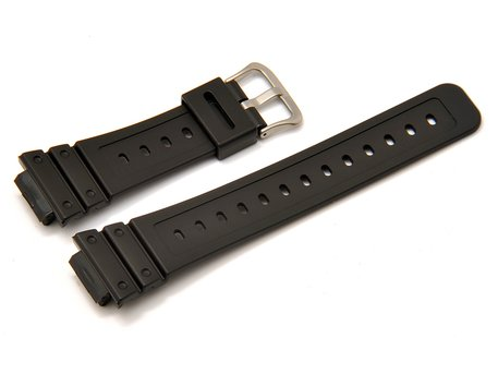 Genuine CASIO Black Resin Watch Strap for DW-5600BB, DW-5600P, DW-5600BB-1, DW-5600P-1