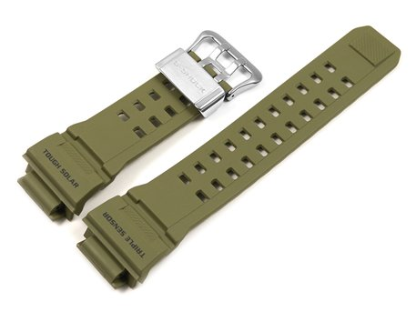 Casio Replacement Army Green Resin Watch Strap f. GW-9400, GW-9400-3