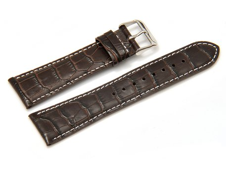 Genuine Casio Replacement Brown Leather Watch Strap for EF-333L, EF-333L-5