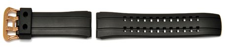 Genuine Casio Black rubber Watch strap for EQW-500BE, EQW-500BE-1AV