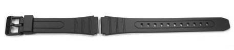 Genuine Casio Replacement Black Resin Watch Strap for W-202, W-202-1