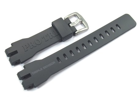Genuine Casio Replacement Dark Grey Watch Strap for PRW-3000, PRW-3000-1