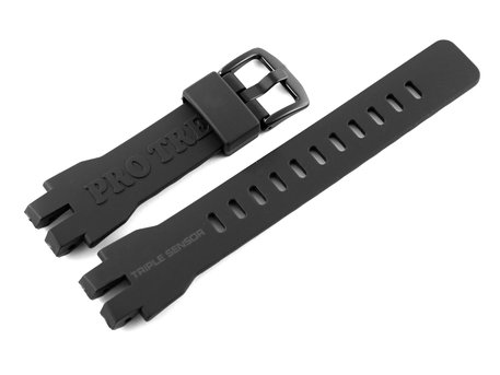 Genuine Casio Replacement Black Resin Watch Strap for PRW-3000 - Black Buckle