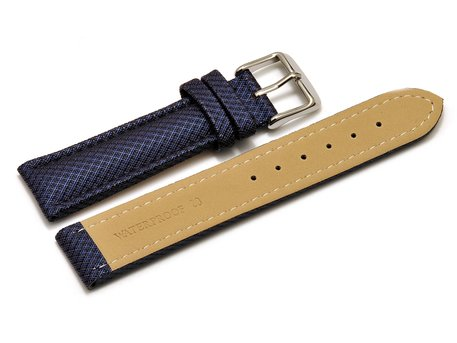 Watch band - padded - HighTech material - textile look - blue