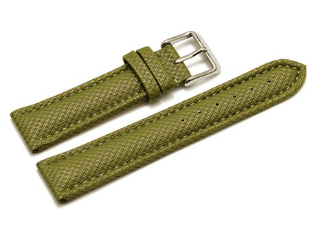 Watch band - padded - HighTech material - textile look - green