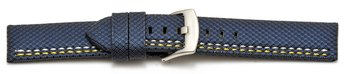 Watch band - HighTech - textile look - blue - yellow and...