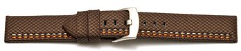 Watch band - HighTech - textile look - brown - orange and...
