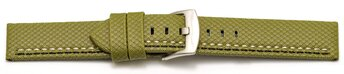 Watch band - HighTech - textile look - green - black and...